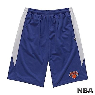 NBA-紐約尼克隊LOGO印花短褲-藍 (男)