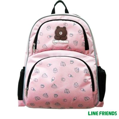 【LINE FRIENDS】MIT 減壓休閒後背書包(甜蜜粉_LI-5395)