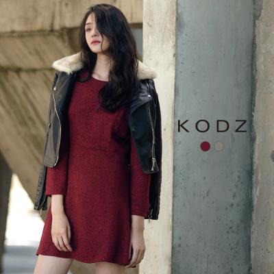 東京著衣-KODZ 歐美時髦復古顯瘦洋裝-S.M.L(共二色)