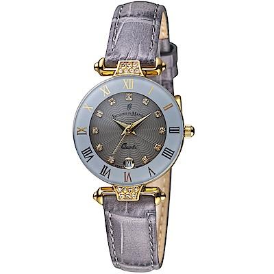 Jacques du manoir彩虹系列時尚復古腕錶(R-GYS 灰)