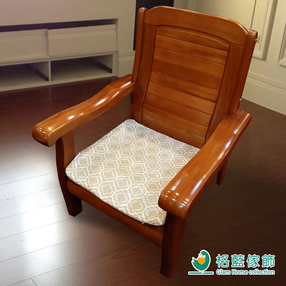 格藍傢飾 雅室緹花坐墊套-咖1人含內坐墊-2款任選