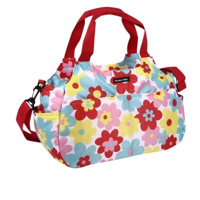 日本Hanna Hula-棉花糖二用媽媽包/空氣包(花樣紅)