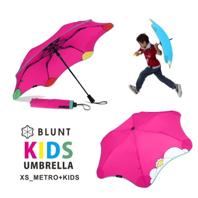 紐西蘭BLUNT 保蘭特 可變色安全兒童傘 – 折傘 (豔桃紅)