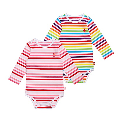 WHY AND 1/2 mini 條紋棉質萊卡包臀衣 0M-24M 多色可選