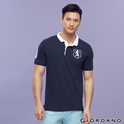GIORDANO-男裝勝利獅王盾牌POLO衫-25