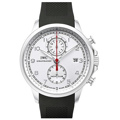 IWC 萬國錶 葡萄牙系列航海精英計時腕錶(IW390502)-銀白/43.5mm