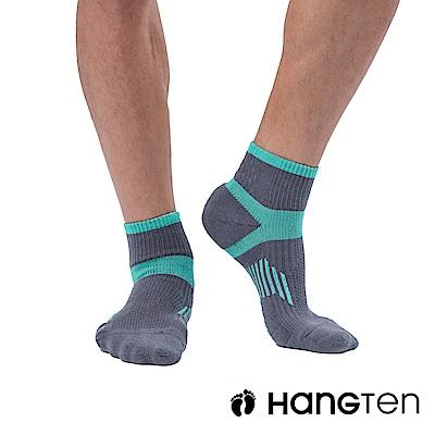 HANG TEN 二分之一氣墊機能襪2雙入組(男)_藍綠(HT-A33001)