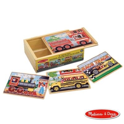 美國瑪莉莎 Melissa & Doug 盒中木製拼圖 - 交通工具