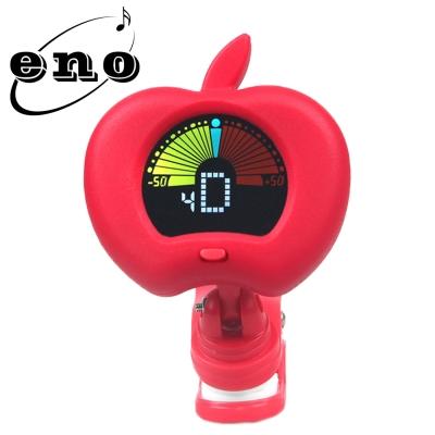 ENO EMT-310 夾式彩色顯示螢幕調音器 蘋果造型紅色款