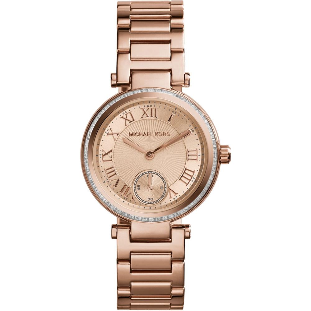 Michael Kors 羅馬時尚小秒針腕錶-玫塊金/33mm