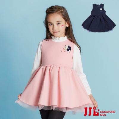 JJLKIDS 法式優雅秋冬圓領無袖洋裝(2色)