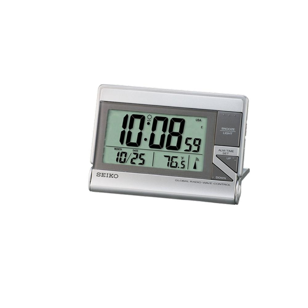 SEIKO 日本精工 世界電波靜音桌鐘(QHR024S)-白/13x9cm