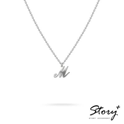 STORY ACCESSORY-字母系列-字母M 純銀項鍊
