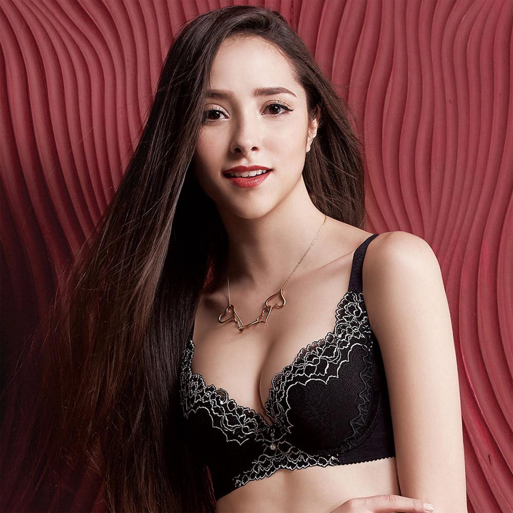 【摩奇X】美麗系列挺魔力Bra B-C罩杯內衣(經典黑)-機能型內衣