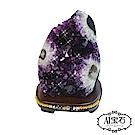 A1寶石  頂級巴西天然紫晶鎮/陣同烏拉圭水晶洞功效《3.6kg》贈開運風水五行木座