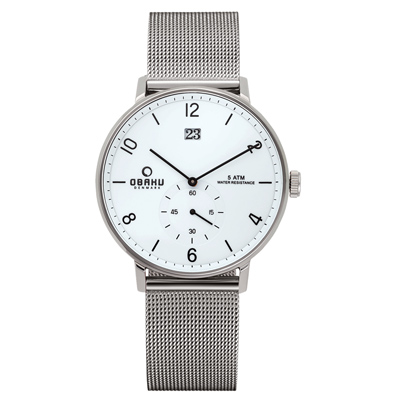OBAKU 蛻變規則時尚米蘭錶-V190GDCWMC/42mm