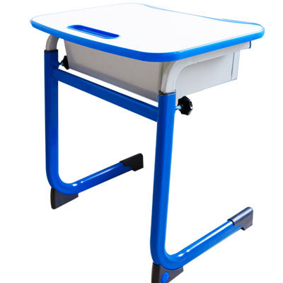 WSH日式快樂兒童升降學習桌(單桌-藍色)