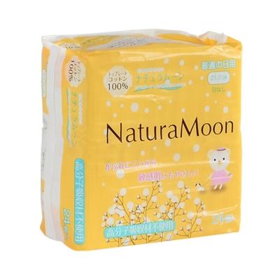 日本Naturamoon 天然棉衛生棉24枚/21cm一般日用(HK-NM1202) -快