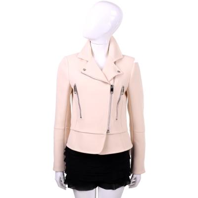 BALENCIAGA 粉色拉鍊騎士外套