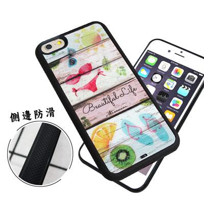石墨黑系列 iPhone 6s Plus 5.5吋 高質感側邊防滑手機殼(比基尼...