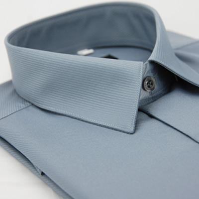 金‧安德森 灰色斜紋吸排長袖襯衫