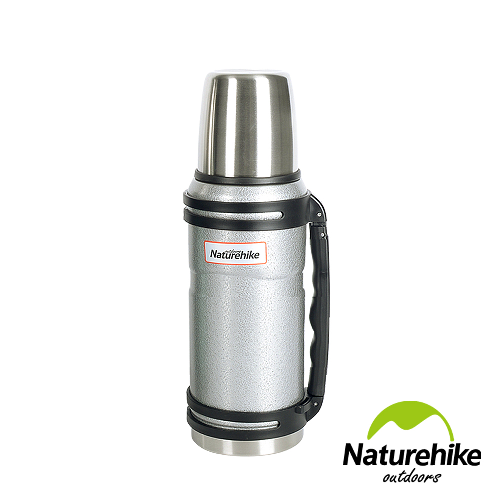 Naturehike經典復古款304不鏽鋼真空保溫壺保溫瓶悶燒罐1L灰色