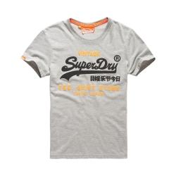 SUPERDRY 極度乾燥 短袖 文字T恤 灰色