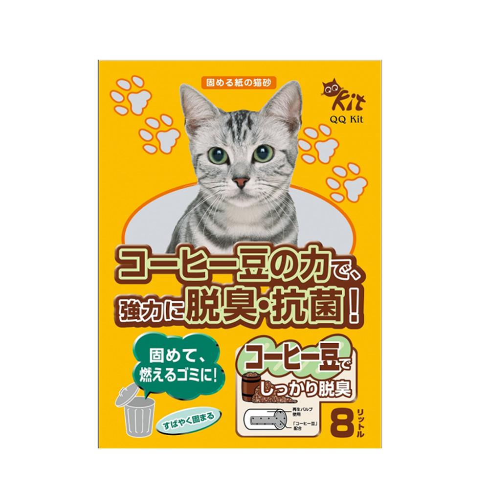 3包組 QQ KIT咖啡環保紙貓砂8L