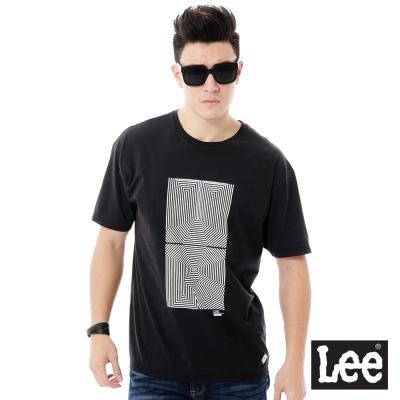Lee URBAN RIDERS UR印花短袖T恤-男款-黑色