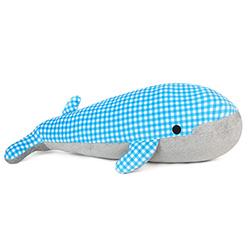 Yvonne Collection鯨魚造型抱枕-藍格