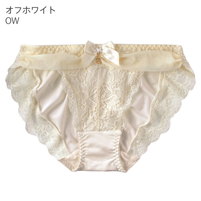aimerfeel 淑女透視奢華內褲-米白色