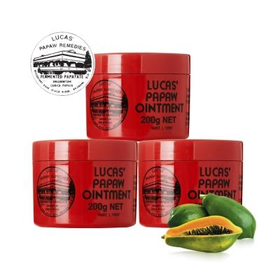 Lucas Papaw Ointment 澳洲木瓜霜 200g/瓶x3入