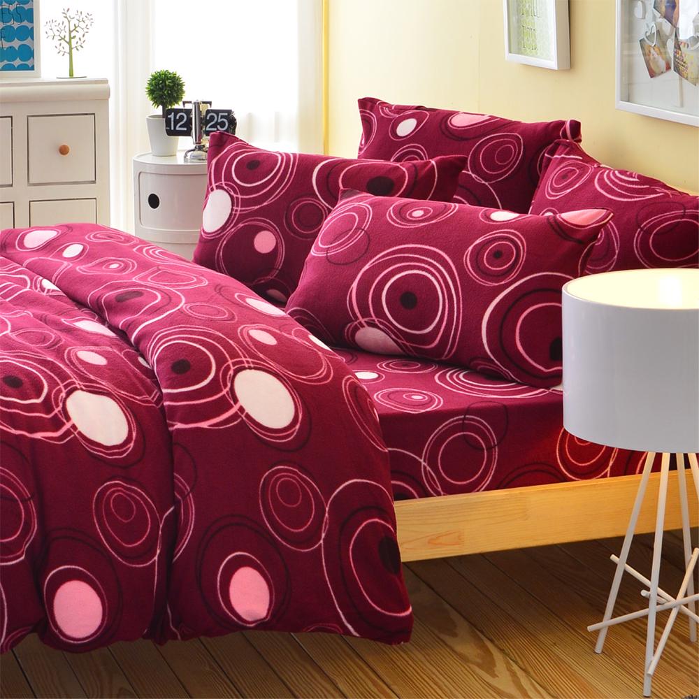 Ania Casa迷情普普 單人三件式 搖粒絨 台灣製 床包被套三件組