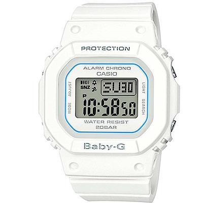 BABY-G復刻經典原型百搭流行設計休閒錶(BGD-560-7)白色40mm