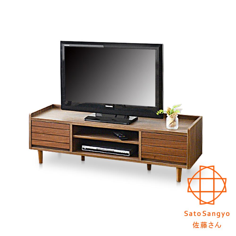 Sato - TWICE琥珀時光雙抽開放電視櫃‧幅120cm