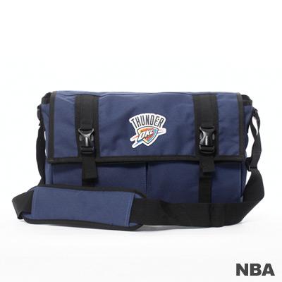 NBA-奧克拉荷馬雷霆隊功能性大郵差包-深藍