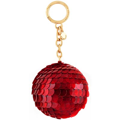 MICHAEL KORS Disco Pom亮片球球鑰匙圈吊飾(紅色)