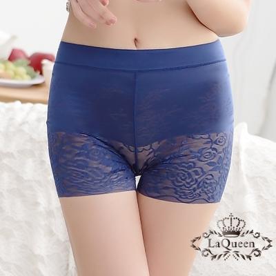 塑褲  蠶絲無痕中高腰輕塑褲-深藍 La Queen