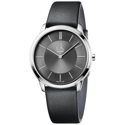 Calvin Klein CK Minimal 極簡時尚腕錶-灰/40mm