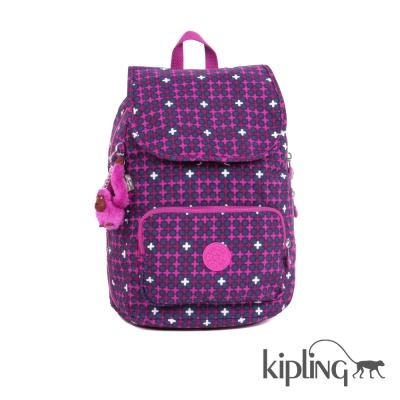 Kipling 後背包 繽紛十字印花-中