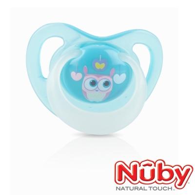 Nuby 夜光舒眠安撫奶嘴0-6m(附蓋)-藍