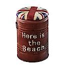 AT HOME-工業風美式復古紅色水桶收納椅凳(36*36*48cm)