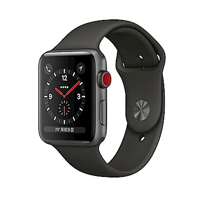 Apple Watch Series 3 GPS + Cellular 42公釐太空灰色