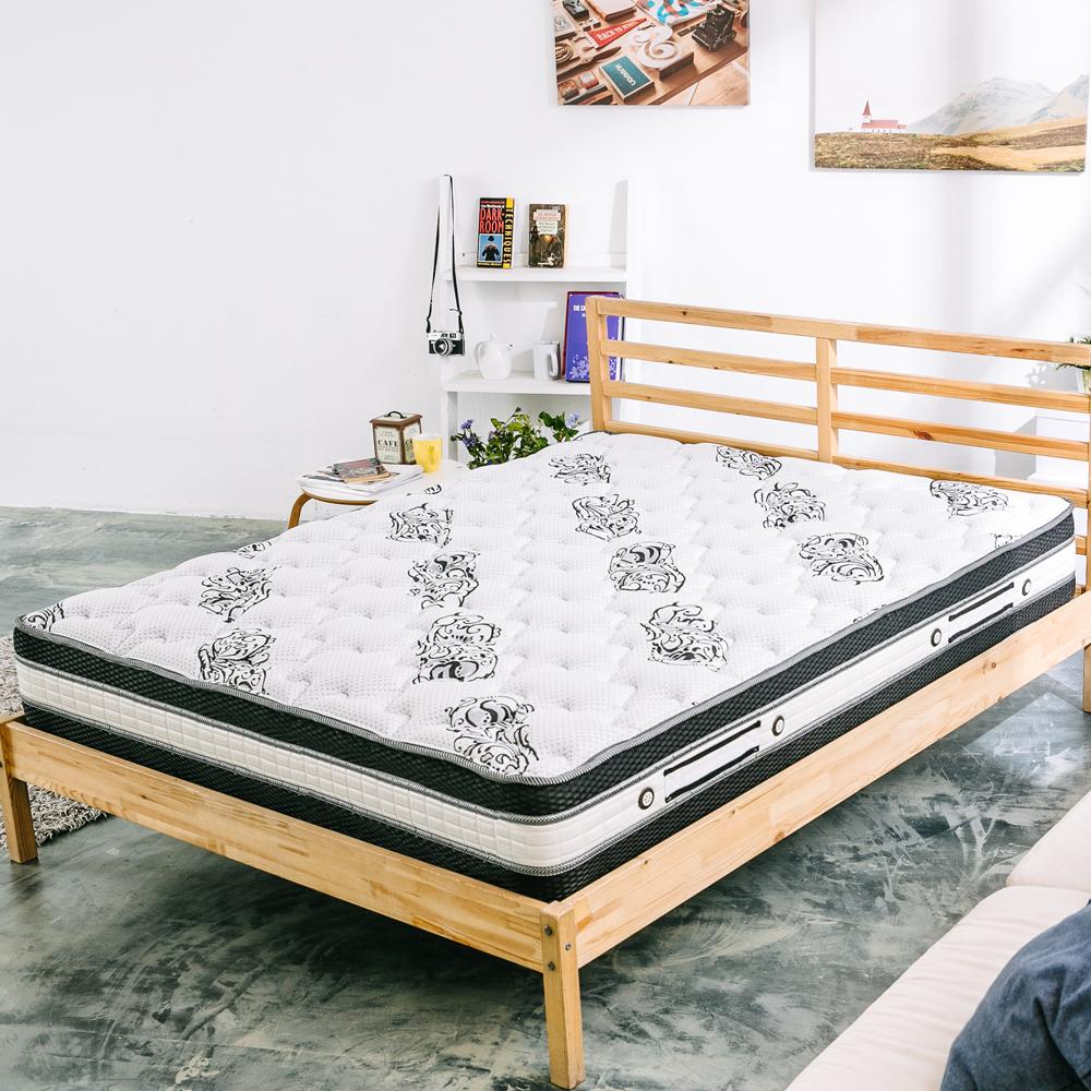 萊諾比 阿奈爾舒柔乳膠四線圍邊獨立筒床墊 雙人5尺