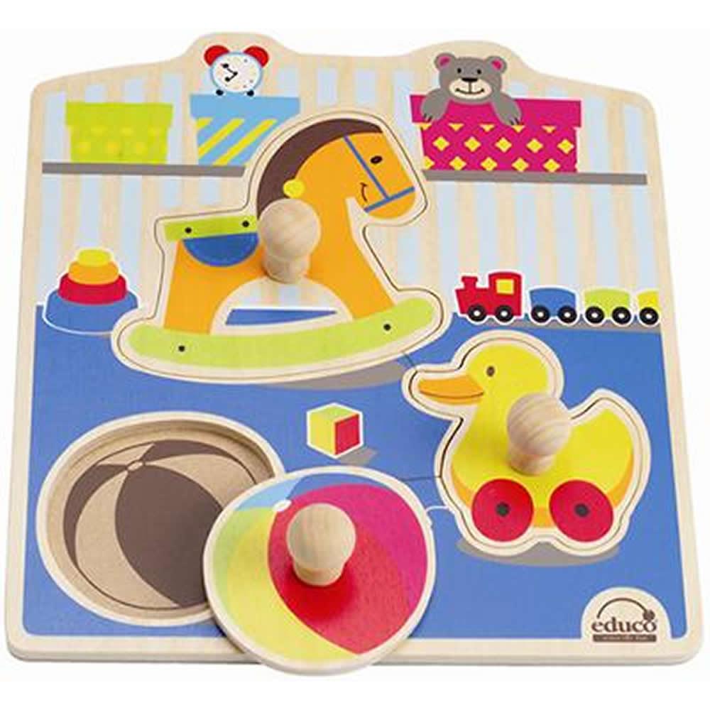 德國educo愛傑卡  可愛玩具木拼圖