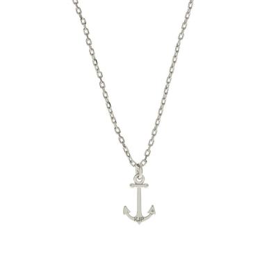 Kiel James Patrick 美國手工COASTAL CHARM 小款船錨銀色項鍊