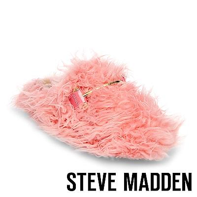 STEVE MADDEN-FRAGGLE 金屬扣毛絨拖-粉色