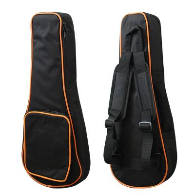 烏克麗麗 Ukulele  雙肩厚琴袋 21吋專用(黑色/橘邊)