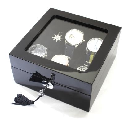 PARNIS BOX手錶 黑鋼琴烤漆6只裝 原木手錶收藏盒 收納錶盒  鋼琴01~1  禮
