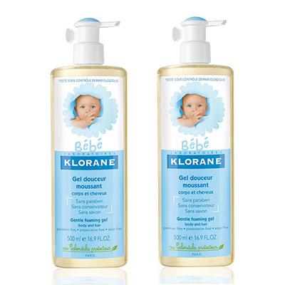 KLORANE蔻蘿蘭 寶寶洗髮沐浴精第二件六折組(送蔻蘿蘭寶寶試用品*3)